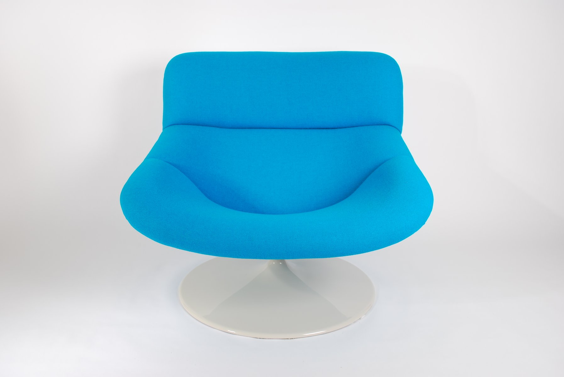 Vintage Blue F518 Lounge Swivel Chair by Geoffrey Harcourt for ...