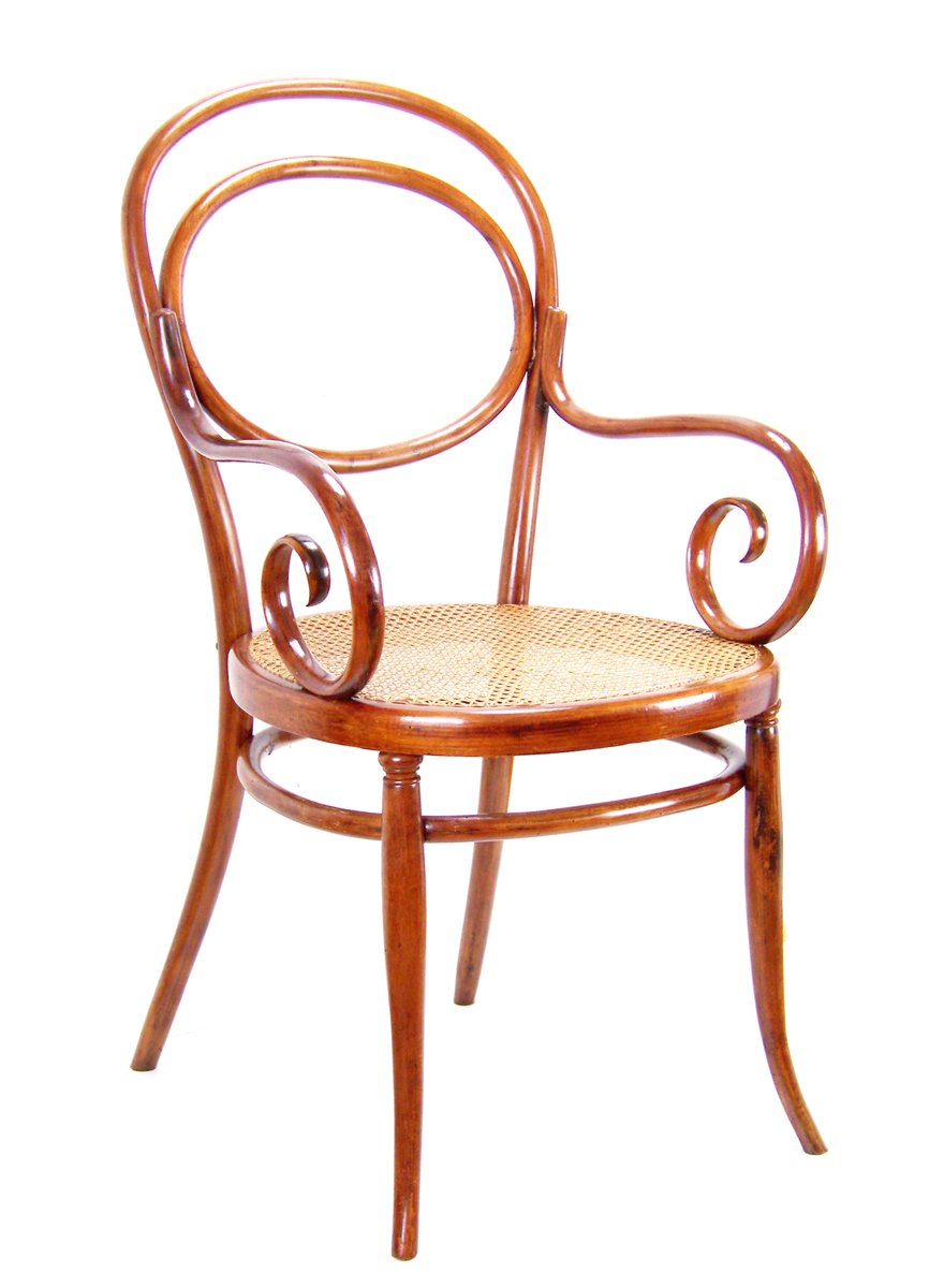 Beautiful 10 Armchair By Michael Thonet, 1870s