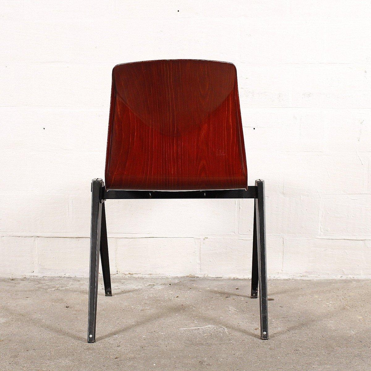 mid century stuhl aus schichtholz metall von pagholz bei. Black Bedroom Furniture Sets. Home Design Ideas