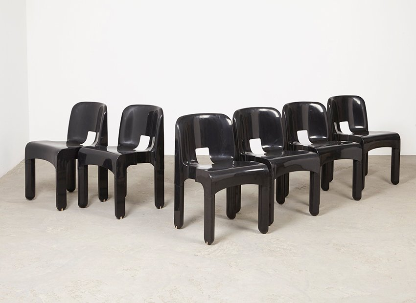 Vintage Universale 4867 Chairs By Joe Colombo For Kartell, Set Of 6 For  Sale At Pamono