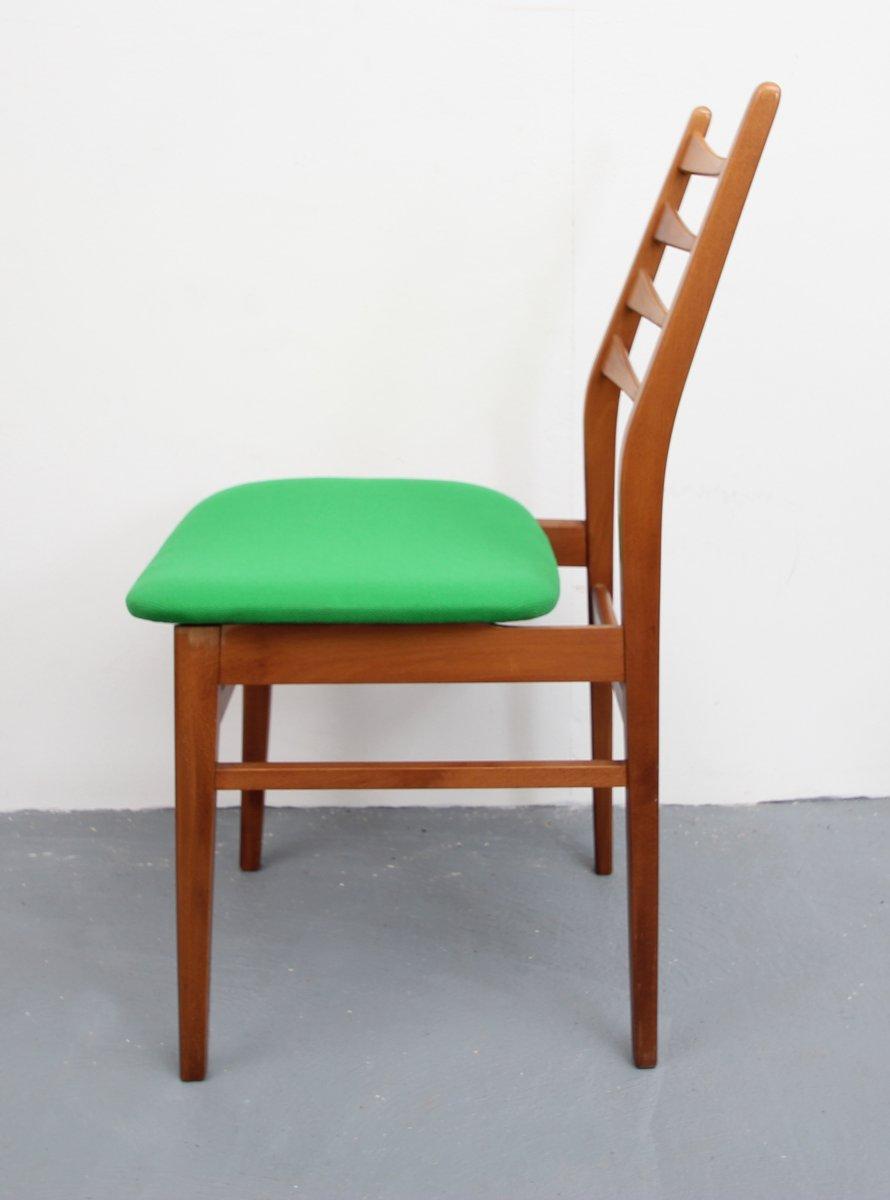 st hle mit gr nen bez gen 1950er 4er set bei pamono kaufen. Black Bedroom Furniture Sets. Home Design Ideas