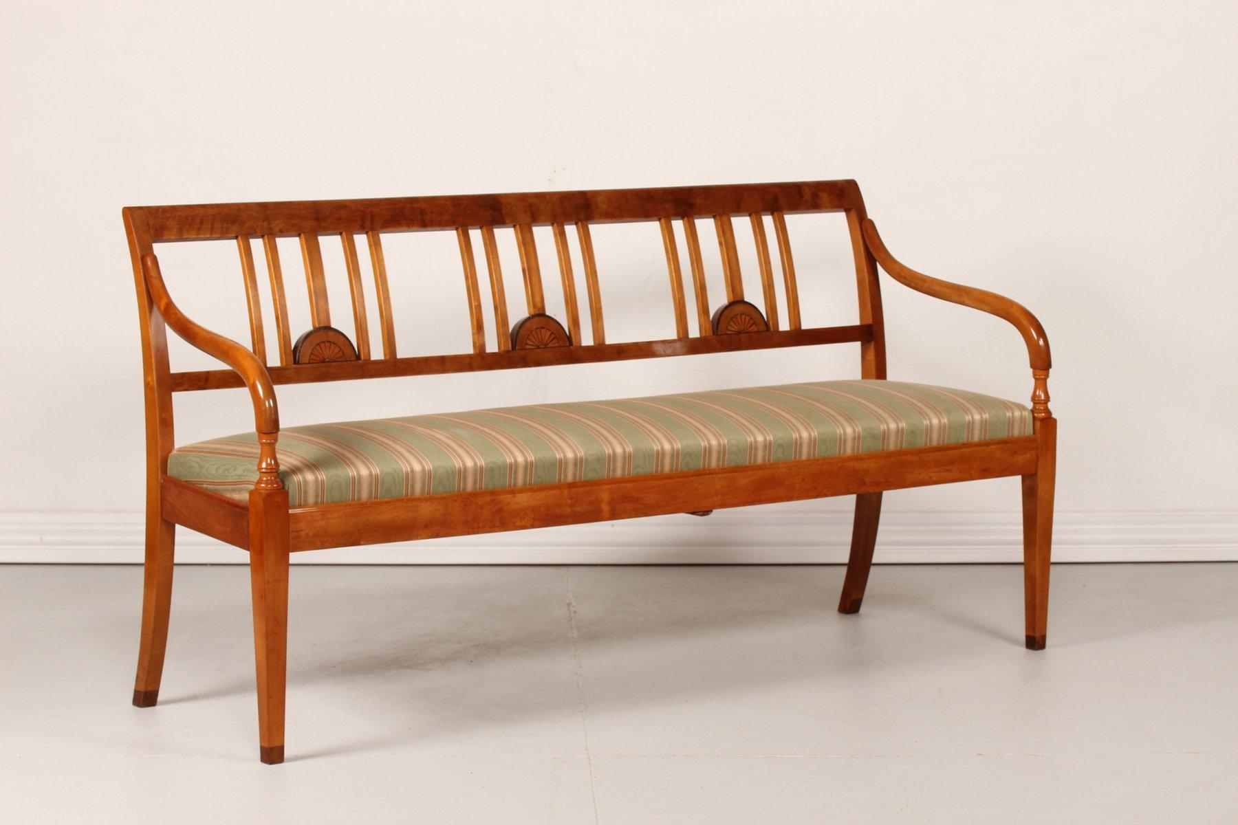 schwedische empire stil sitzbank 1920er bei pamono kaufen. Black Bedroom Furniture Sets. Home Design Ideas