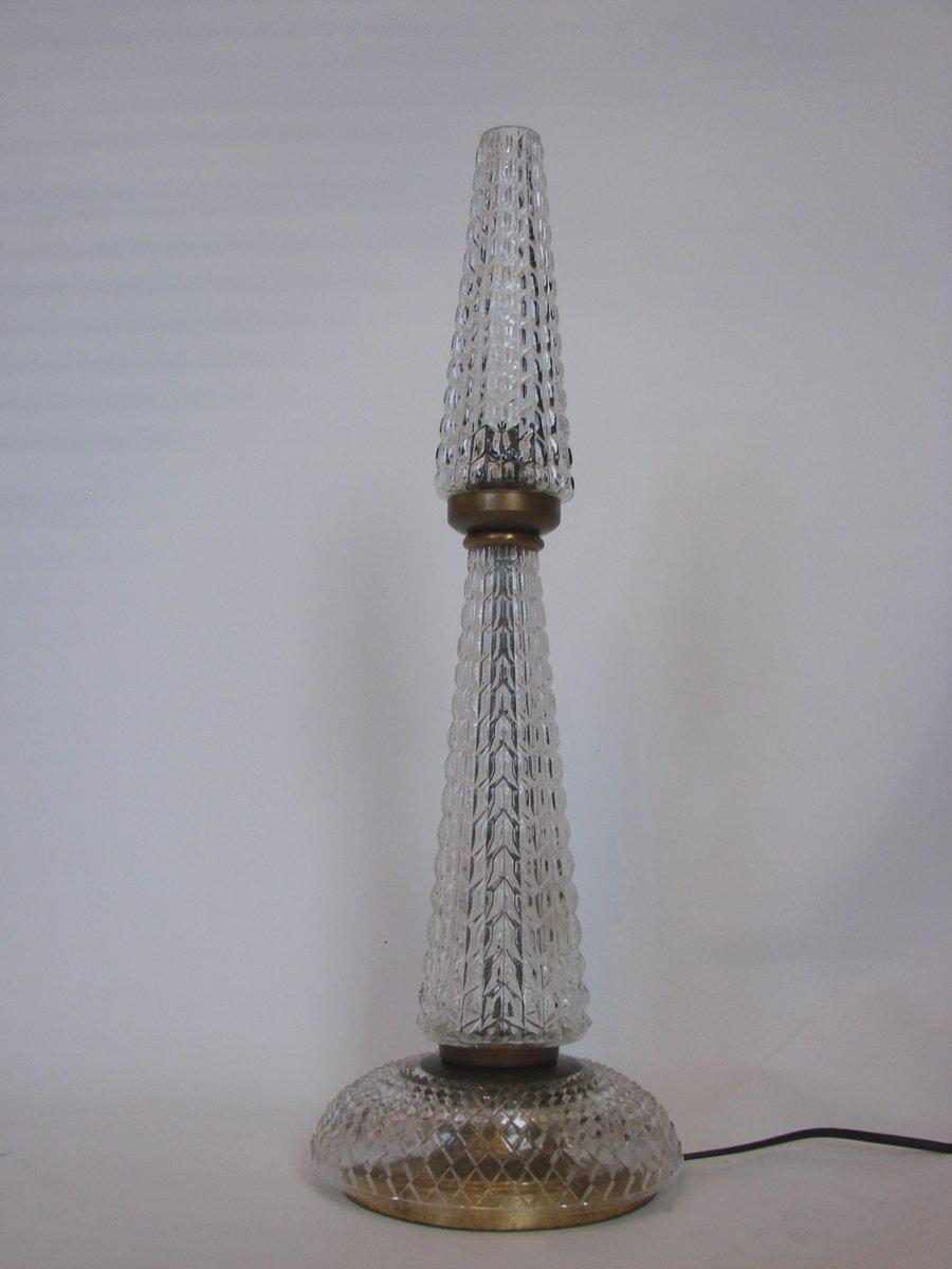 Lampe aus kristall messing 1960er bei pamono kaufen for Kristall lampe