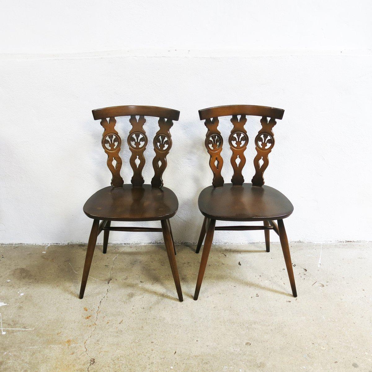windsor st hle von lucian ercolani f r ercol 1970er 6er. Black Bedroom Furniture Sets. Home Design Ideas