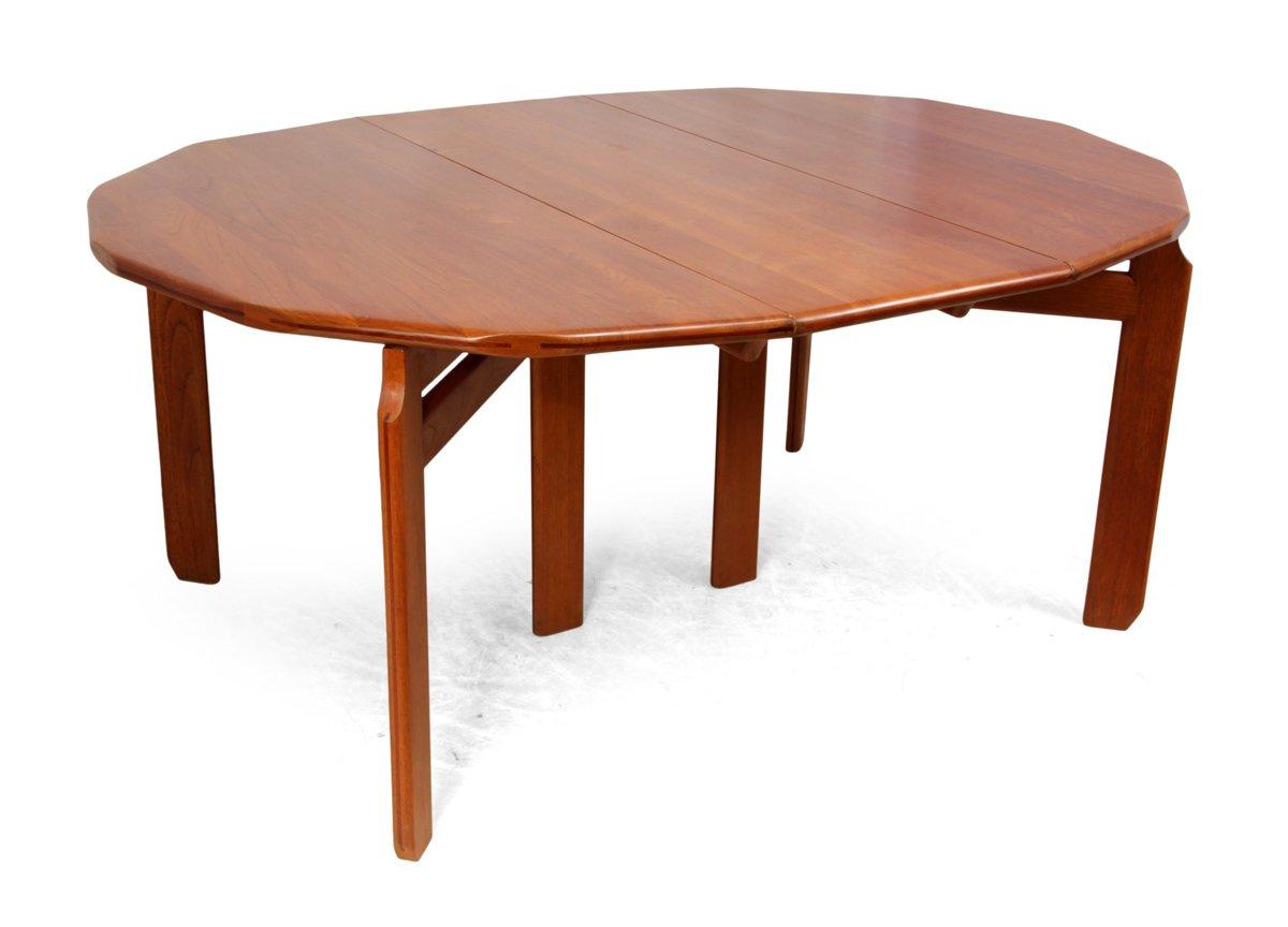 niederl ndischer massiver teak esstisch 1960er bei pamono. Black Bedroom Furniture Sets. Home Design Ideas