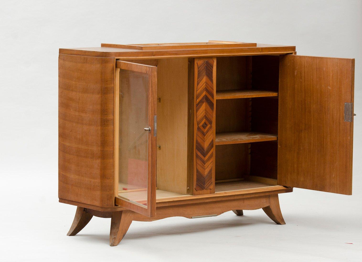 kleines vintage art deco sideboard bei pamono kaufen. Black Bedroom Furniture Sets. Home Design Ideas