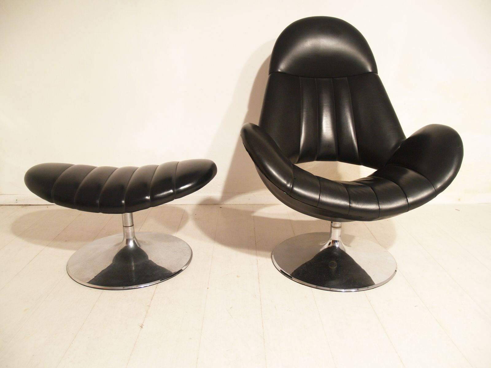 Chair With Footrest From Rohe Noordwolde 1970s For Sale