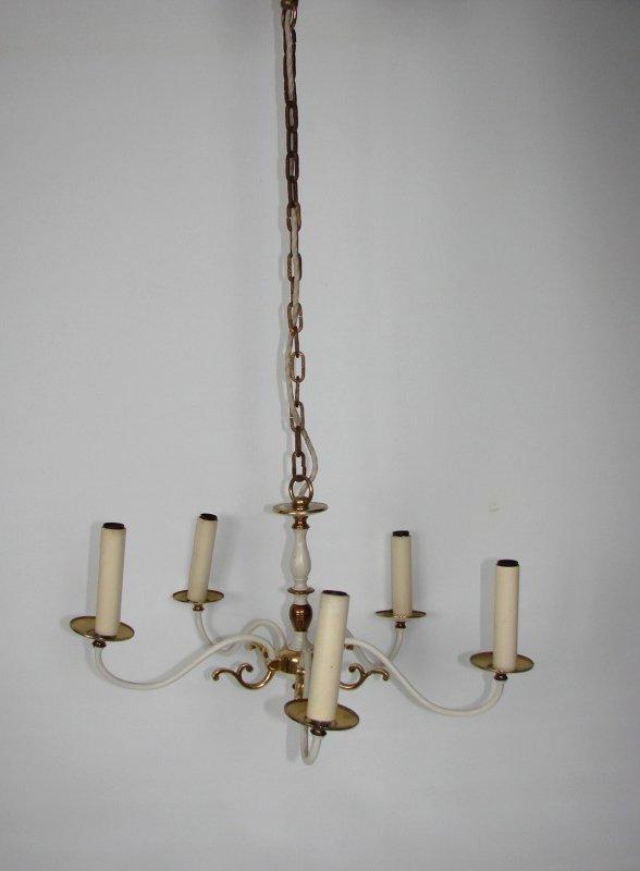 chandelier en laiton de kaiser leuchten 1960s en vente. Black Bedroom Furniture Sets. Home Design Ideas