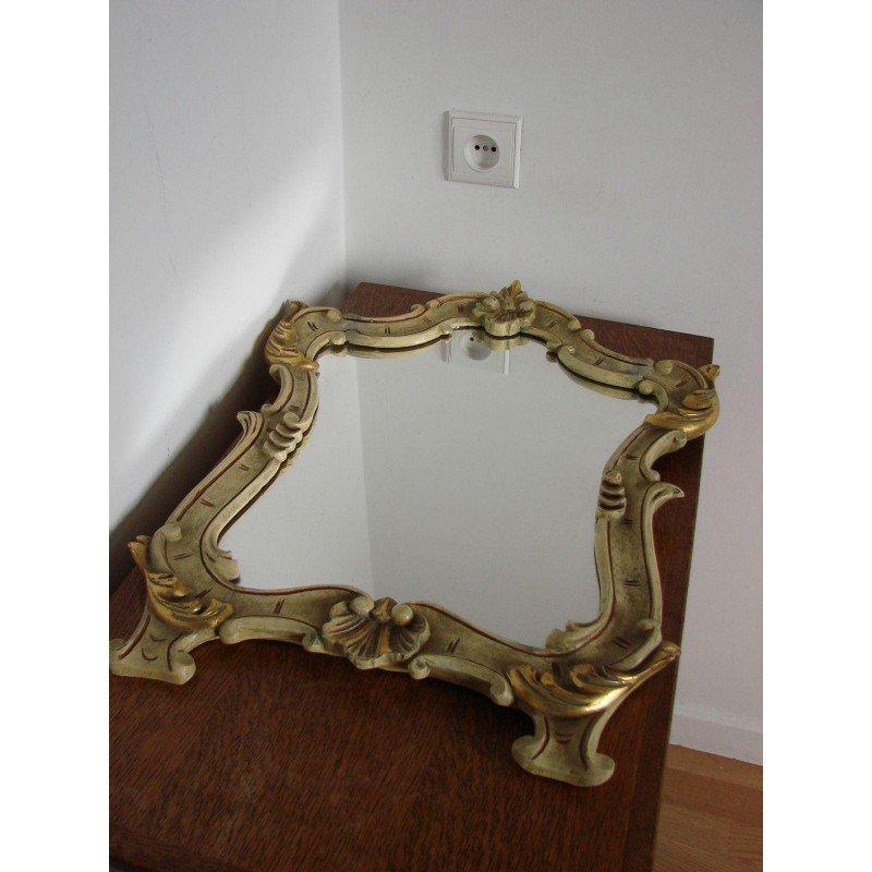 italienischer vintage spiegel mit holzrahmen von l pistone bei pamono kaufen. Black Bedroom Furniture Sets. Home Design Ideas