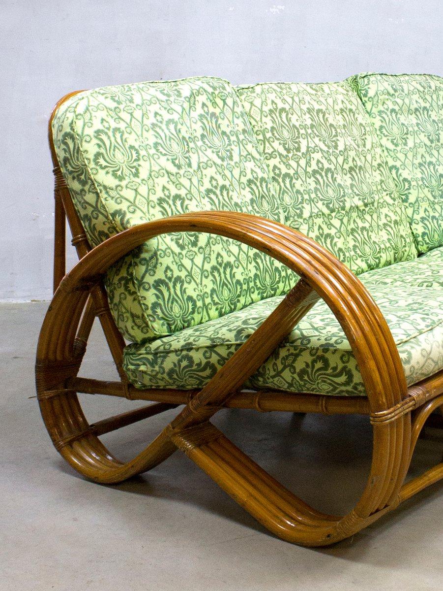 vintage rattan bamboo lounge sofa from roh noordwolde. Black Bedroom Furniture Sets. Home Design Ideas