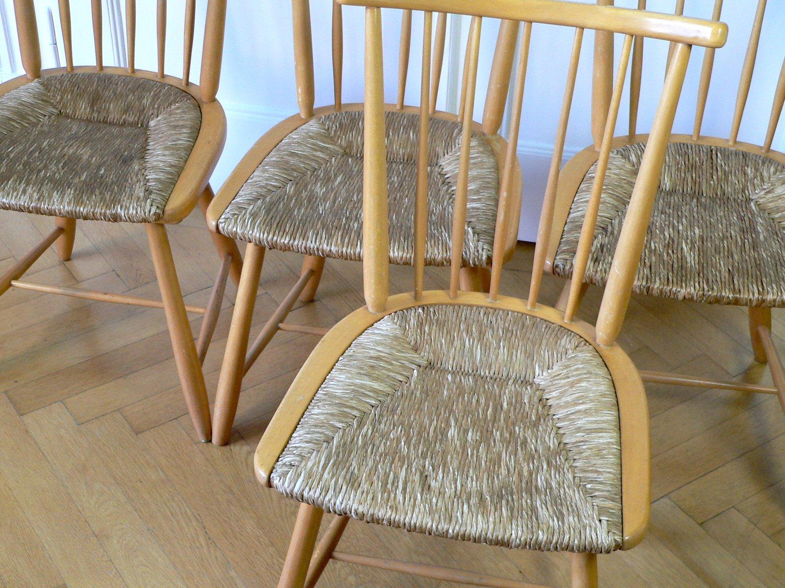 mid century wks series st hle von arno lambrecht f r wk m bel 4er set bei pamono kaufen. Black Bedroom Furniture Sets. Home Design Ideas