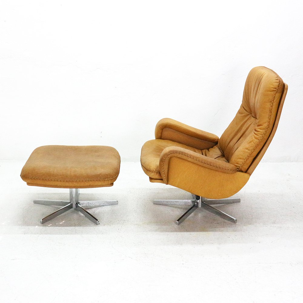 Attractive DS 50 Lounge Chair U0026 Footstool From DeSede, 1960s