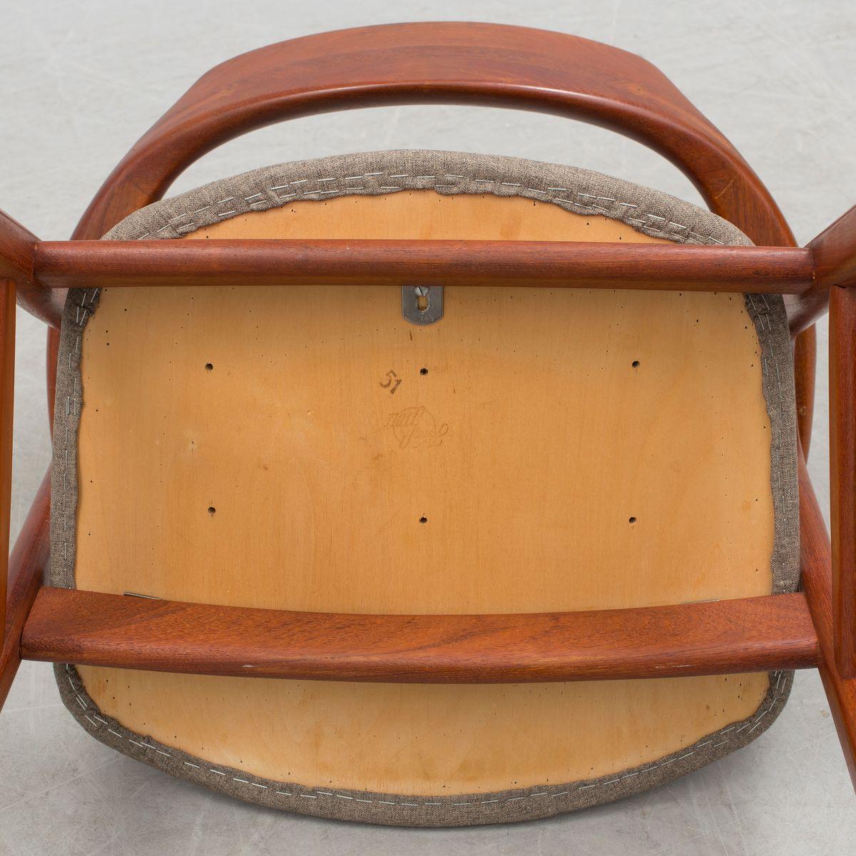 d nischer vintage schreibtischstuhl von erik kirkegaard. Black Bedroom Furniture Sets. Home Design Ideas
