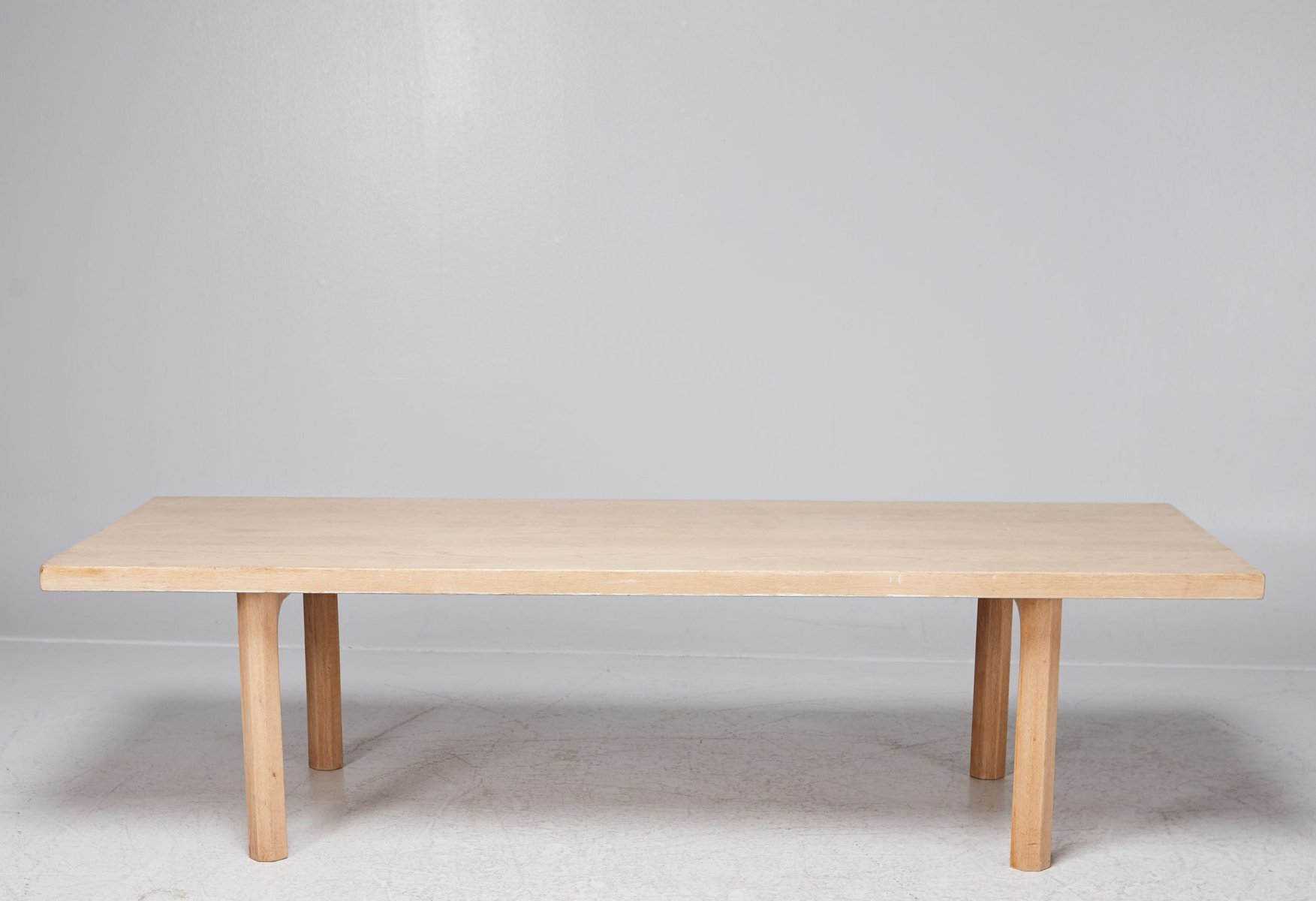 Wonderful White Oak Coffee Table By Hans J Wenger 1960s For At Pamono