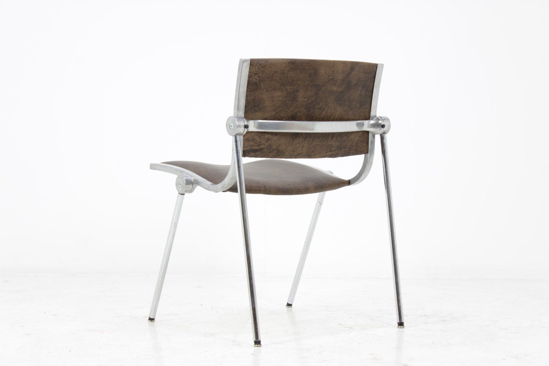 Italian Aluminum Chairs from Vaghi 1960s Set of 6 for sale at Pamono