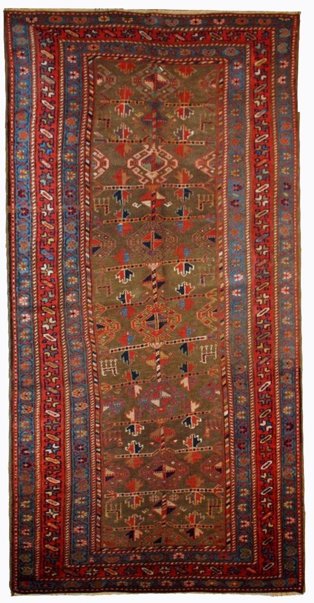 persischer handgekn pfter teppich 1880er bei pamono kaufen. Black Bedroom Furniture Sets. Home Design Ideas