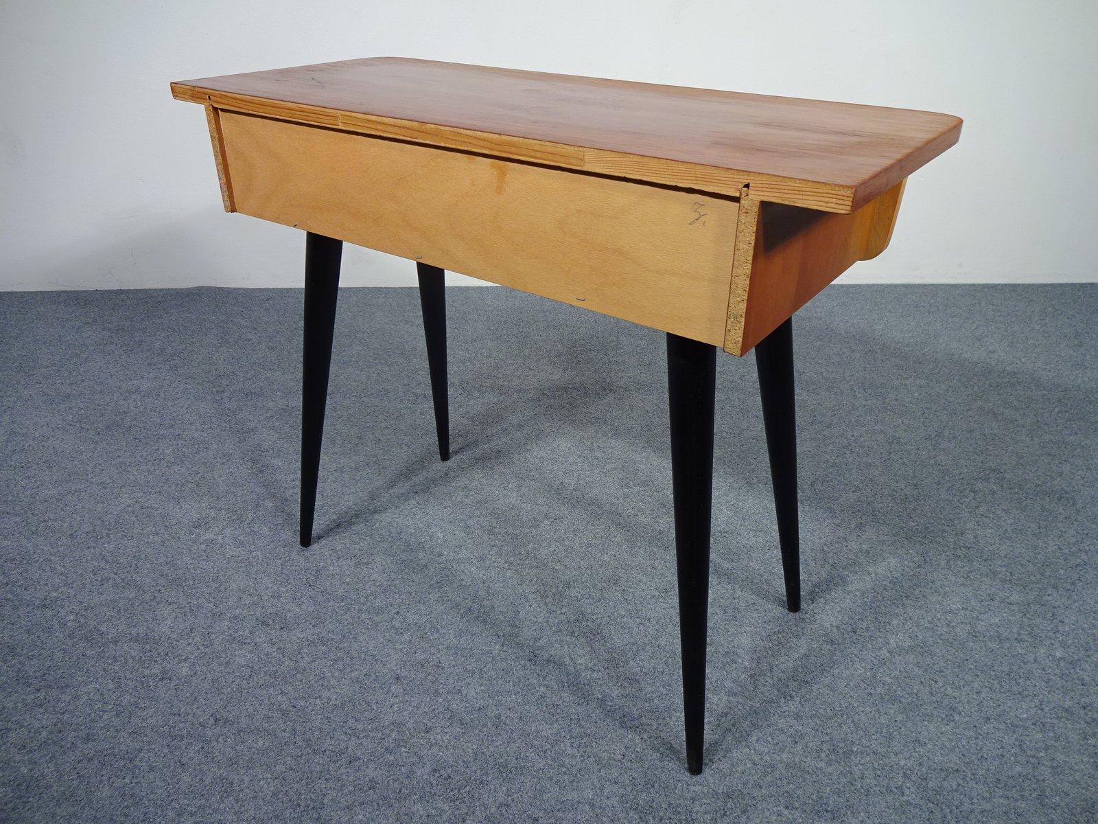 kleiner tisch mit schublade von diele und flur 1950er bei pamono kaufen. Black Bedroom Furniture Sets. Home Design Ideas