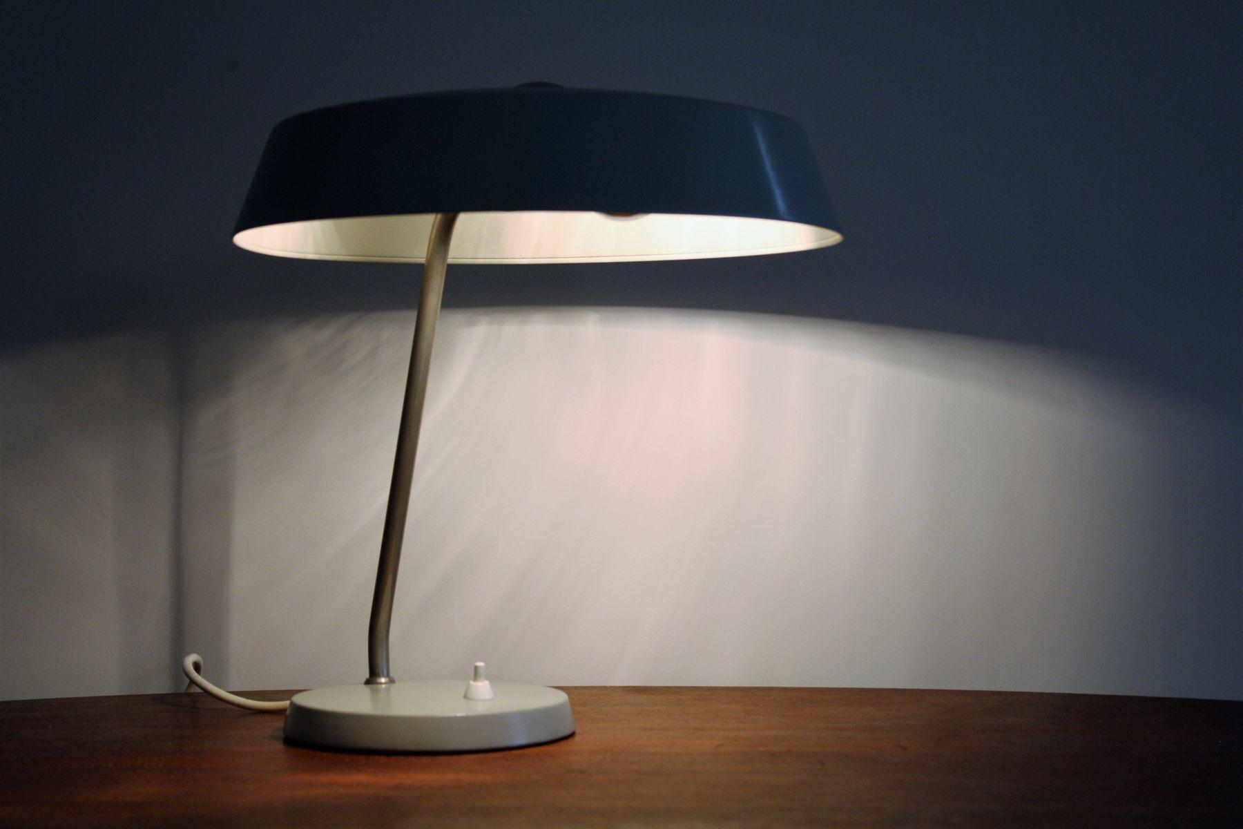 lampe de bureau grise vintage par louis kalff pour philips 1960s en vente sur pamono. Black Bedroom Furniture Sets. Home Design Ideas