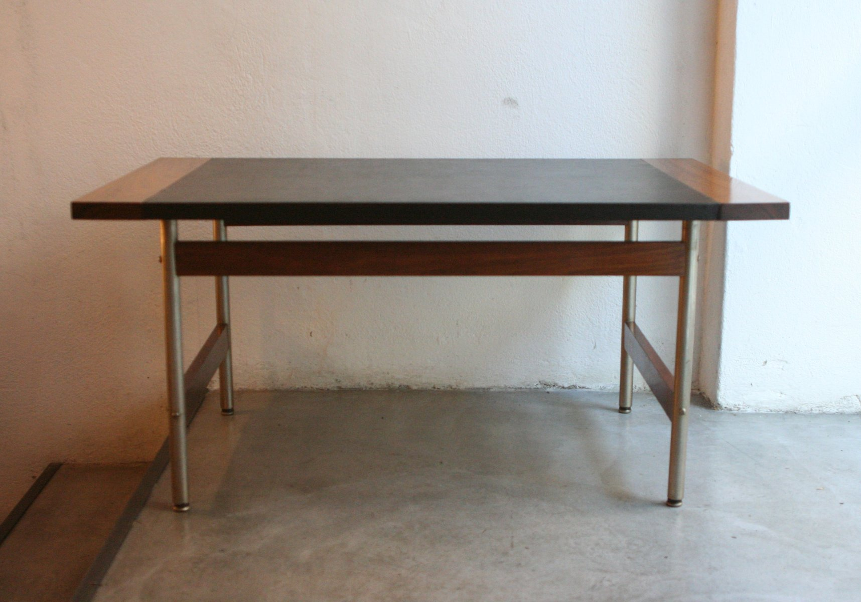 Vintage Rosewood and Leather Coffee Table by Sven Ivar Dysthe for