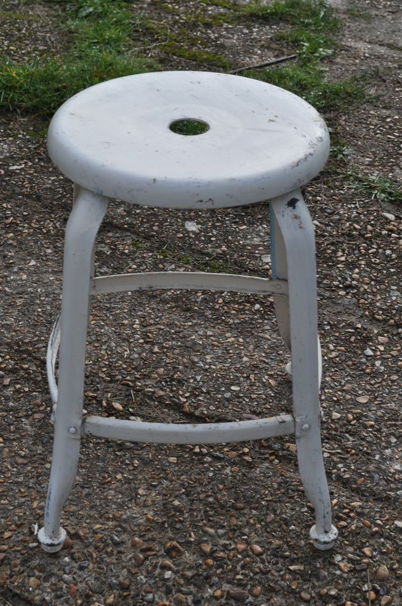 French Metal Stool 1950s For Sale At Pamono