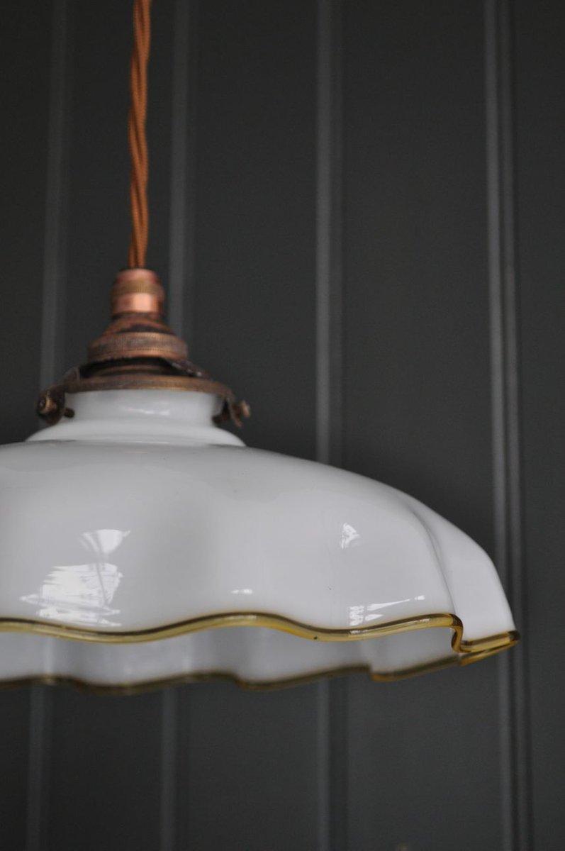 franz sische glas h ngelampe 1960er bei pamono kaufen. Black Bedroom Furniture Sets. Home Design Ideas
