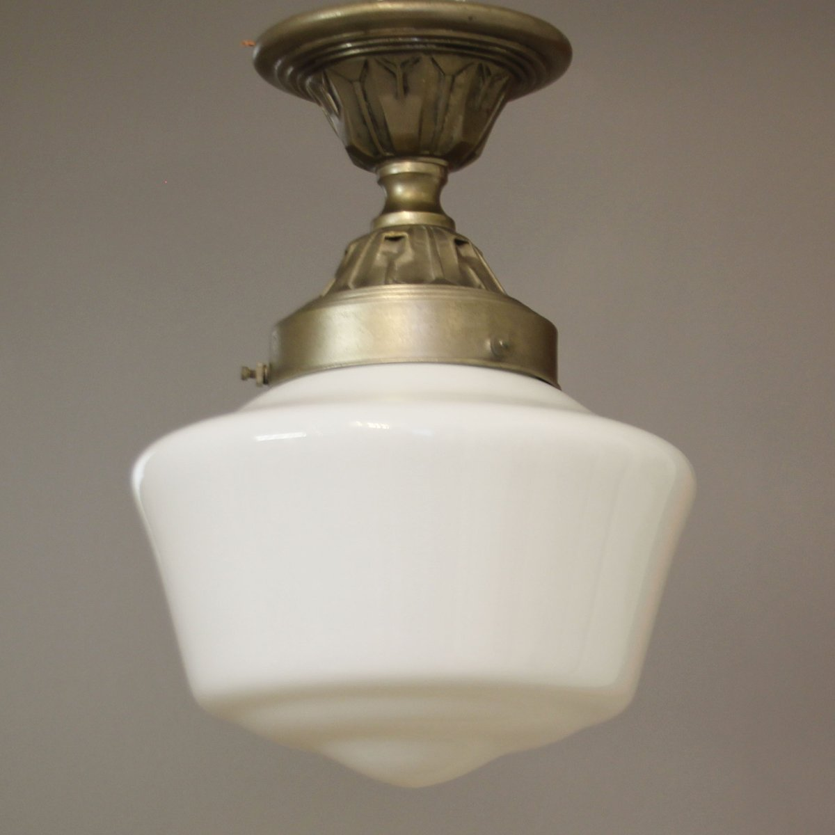 french industrial lighting. Vintage French Industrial Ceiling Lights With White Opaline Glass Shades, Set Of 2 For Sale At Pamono Lighting S