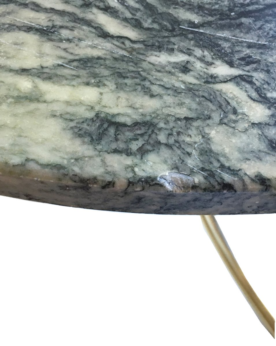 Schwedischer beistelltisch mit steinplatte in grau wei for Beistelltisch stein