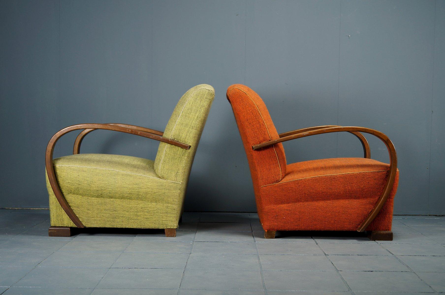 vintage art deco sessel 2er set bei pamono kaufen. Black Bedroom Furniture Sets. Home Design Ideas