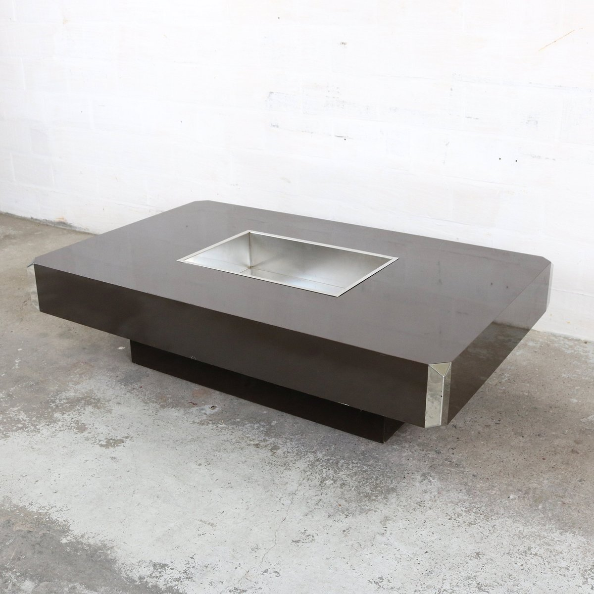 Vintage alveo coffee table by willy rizzo for mario sabot for Mobili willy rizzo