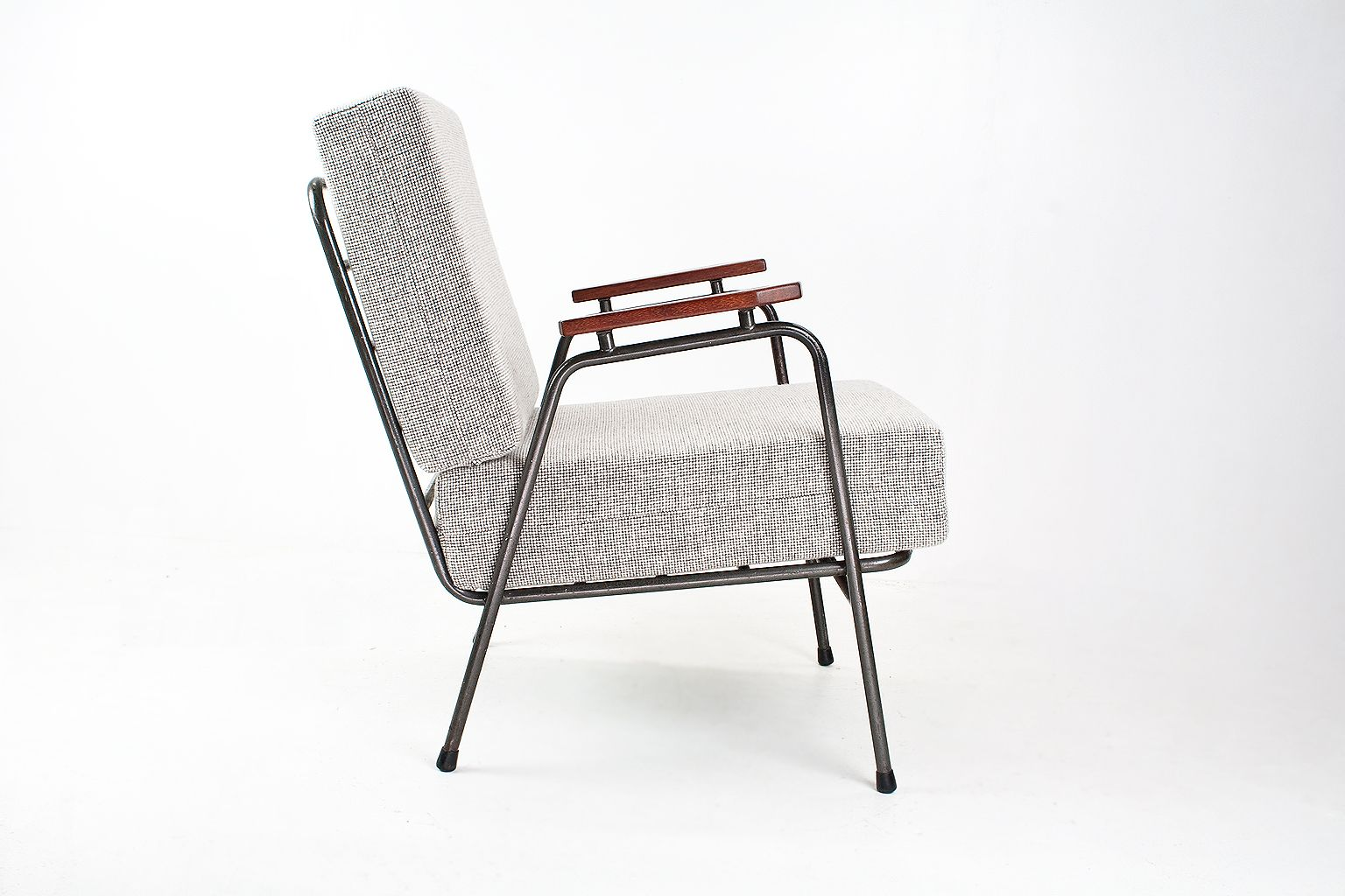 Mid century industrial dutch lounge chair from rawi for for Dutch design chair uk