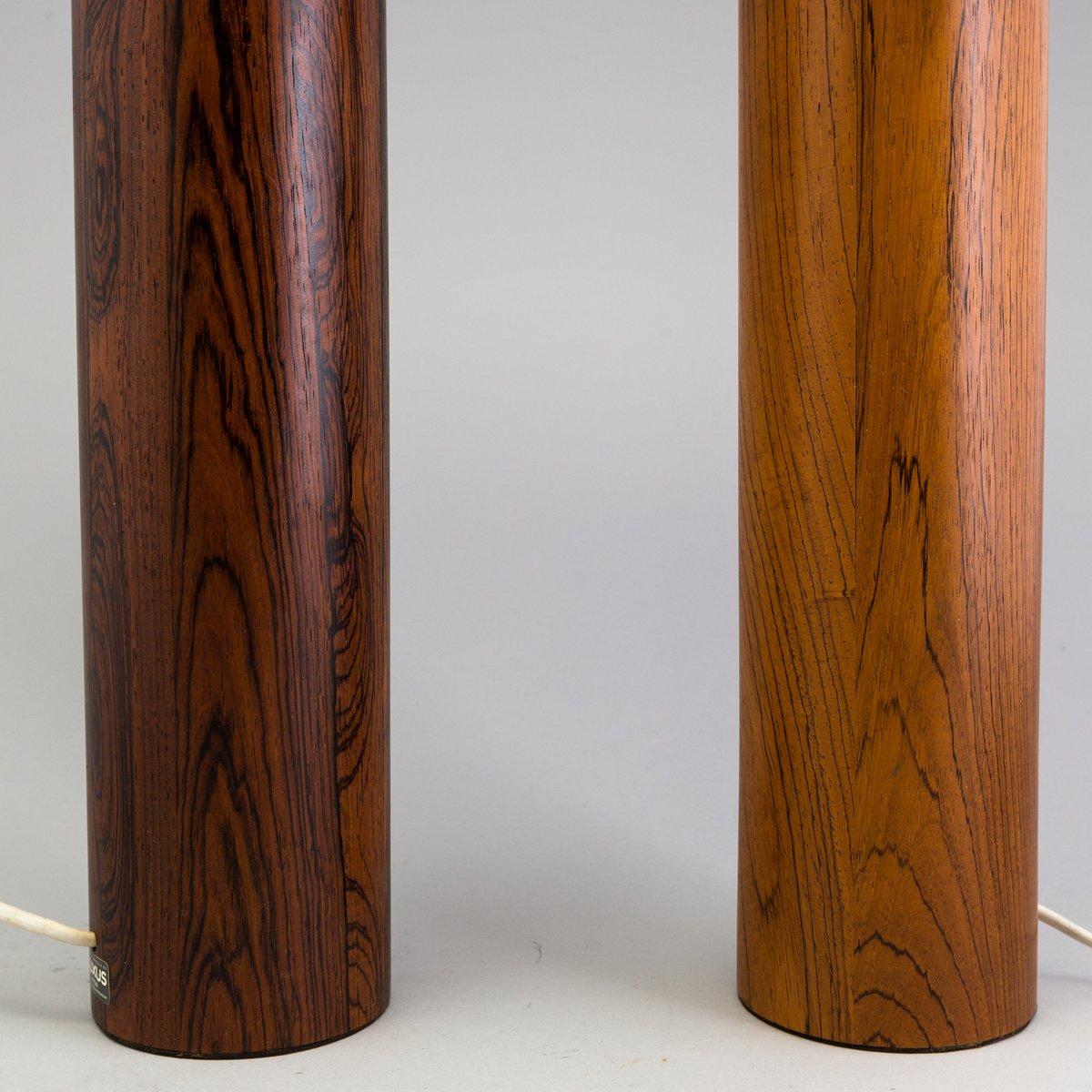 skandinavische palisander tischlampen von uno osten kristiansson f r luxus 1960er bei pamono. Black Bedroom Furniture Sets. Home Design Ideas