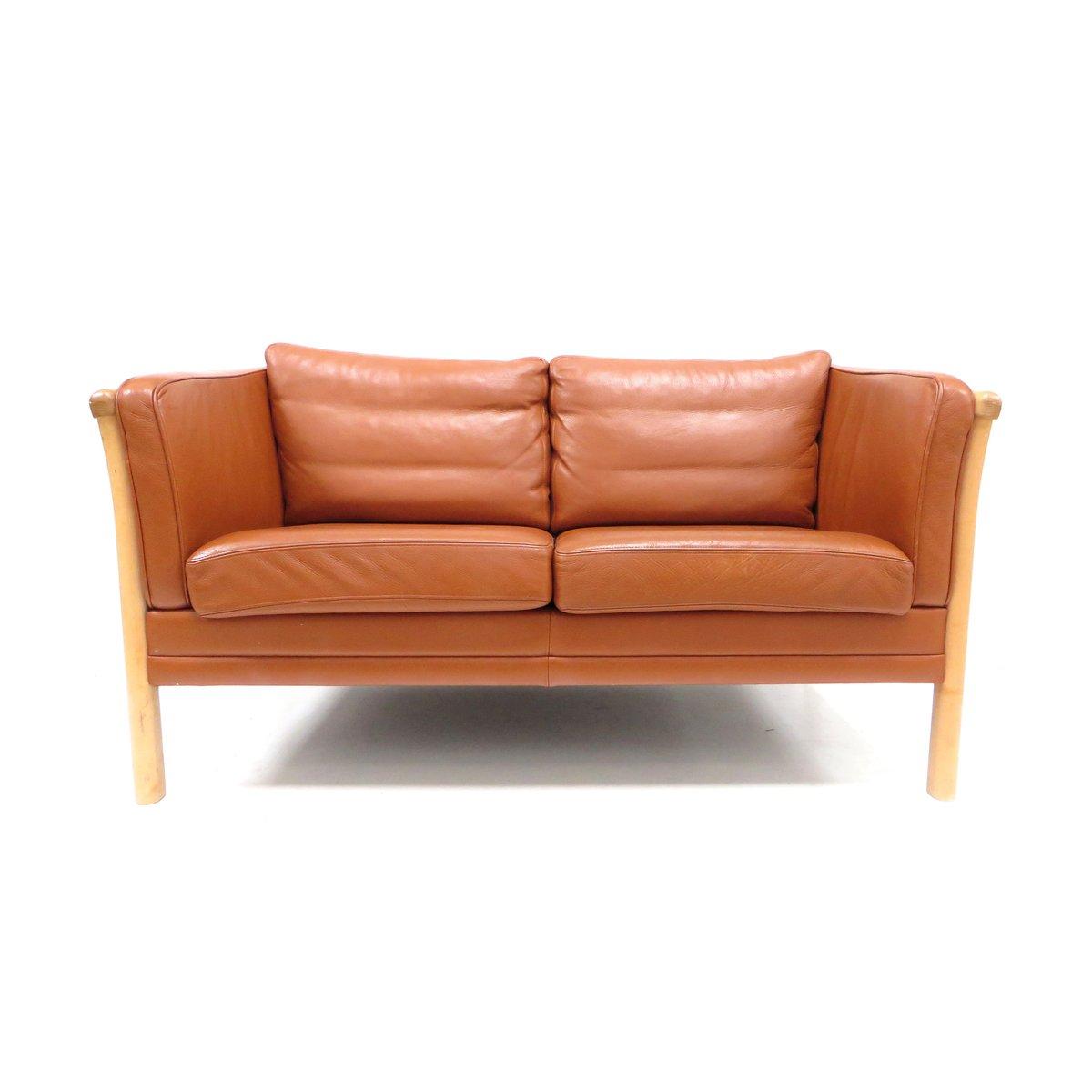 d nisches mid century zwei sitzer sofa von mogens hansen. Black Bedroom Furniture Sets. Home Design Ideas
