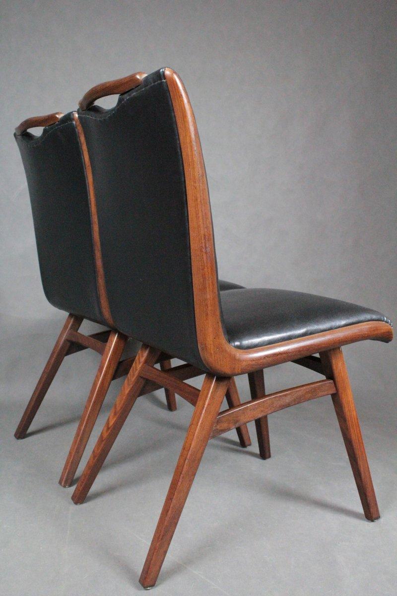 d nische vintage teak st hle 1960er 2er set bei pamono kaufen. Black Bedroom Furniture Sets. Home Design Ideas