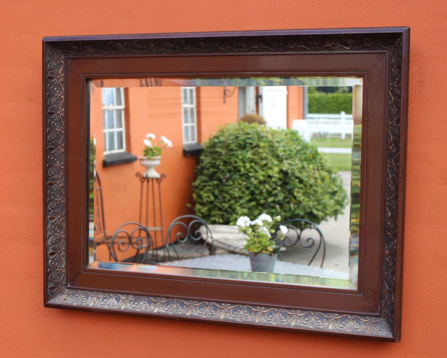 Spiegel mit rahmen aus mahagoni 1920er bei pamono kaufen for Spiegel rahmen