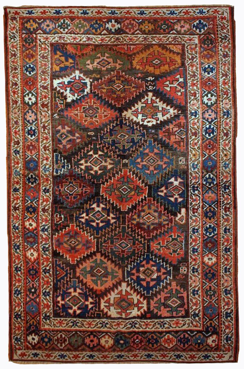 antiker persischer handgekn pfter teppich 1880er bei. Black Bedroom Furniture Sets. Home Design Ideas