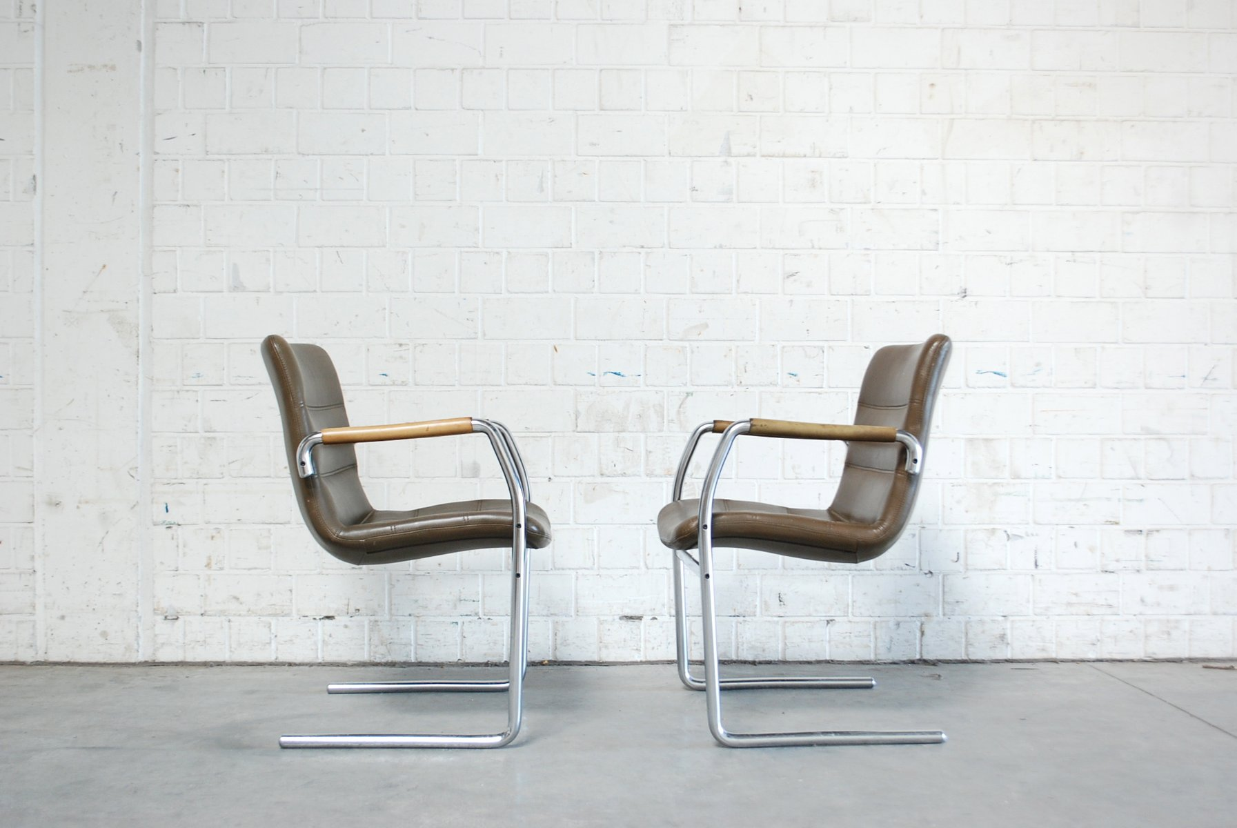 Vintage Cantilever Chairs by Jorgen Kastholm for Kusch + Co, Set of ...