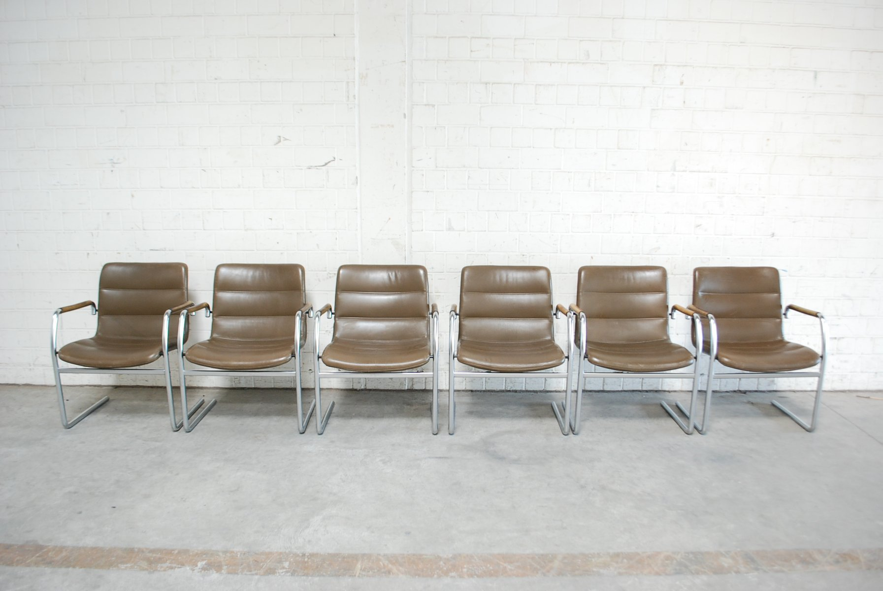Vintage Cantilever Chairs by Jorgen Kastholm for Kusch + Co, Set ...