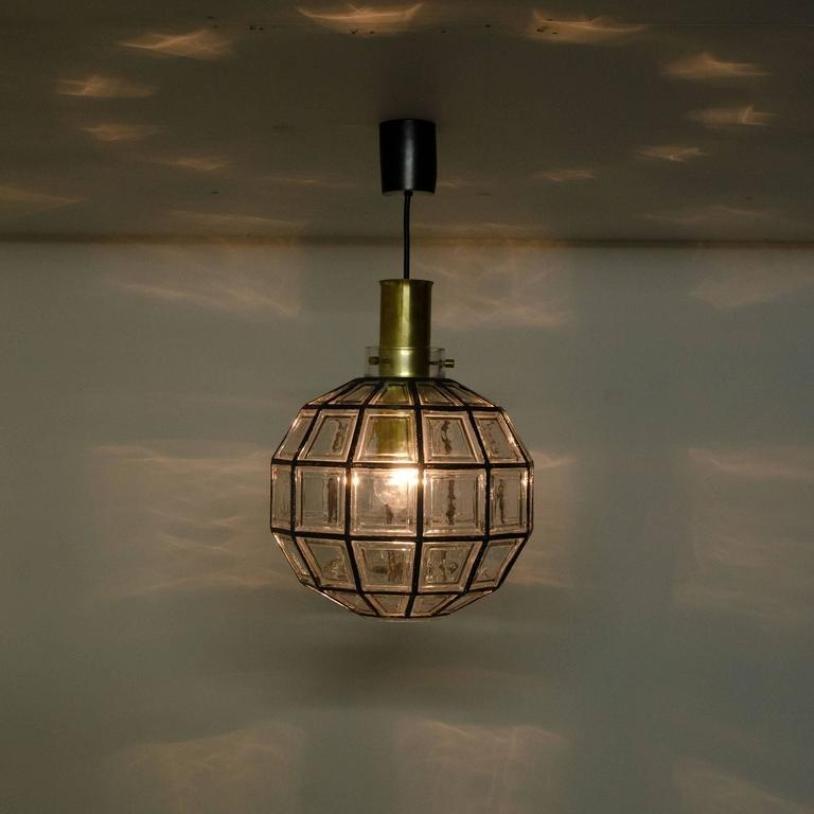 gro e lampen aus eisen glas von glash tte limburg 1965 2er set bei pamono kaufen. Black Bedroom Furniture Sets. Home Design Ideas