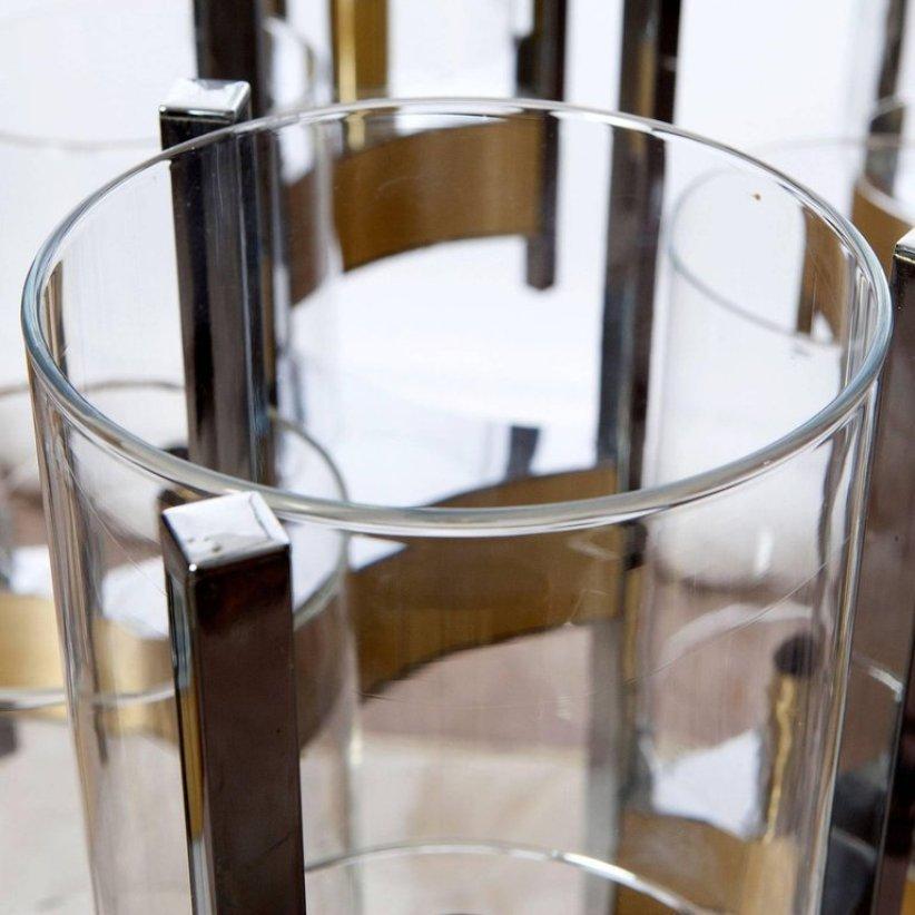 kronleuchter aus chrom glas mit neun leuchten von gaetano sciolari 1960er bei pamono kaufen. Black Bedroom Furniture Sets. Home Design Ideas