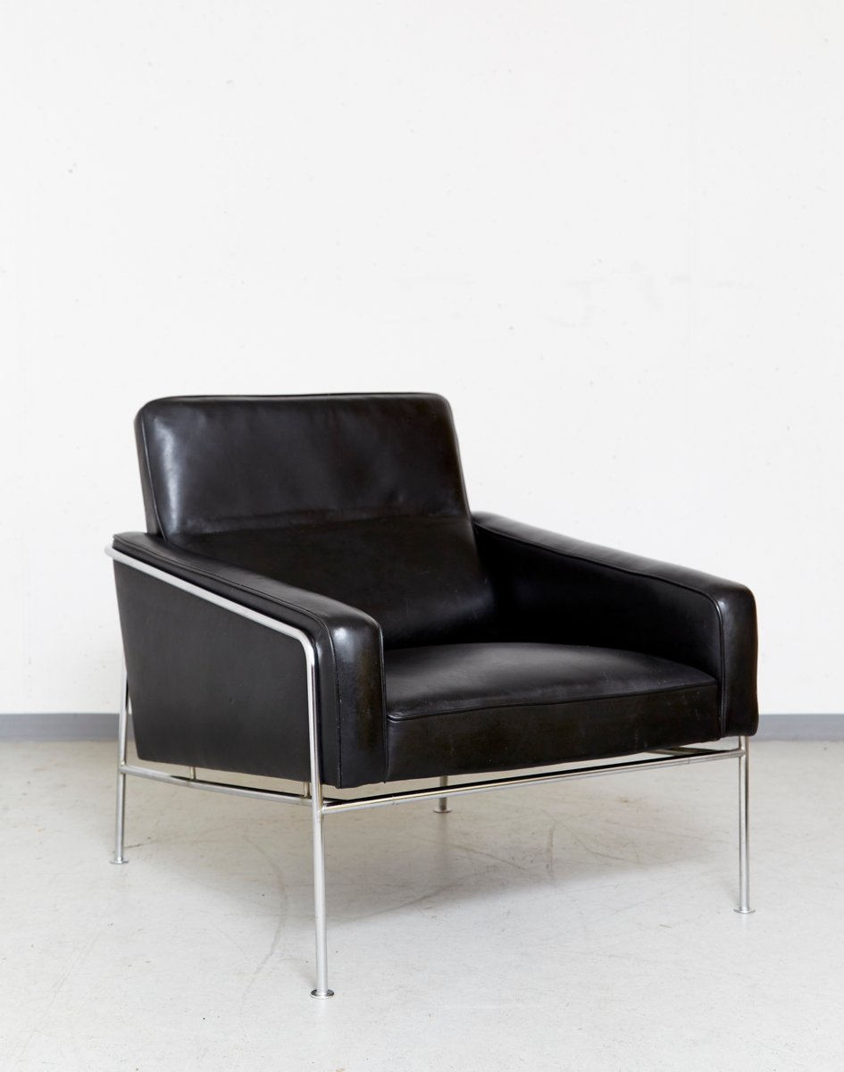 serie 3300 sessel von arne jacobsen f r fritz hansen 1956 bei pamono kaufen. Black Bedroom Furniture Sets. Home Design Ideas