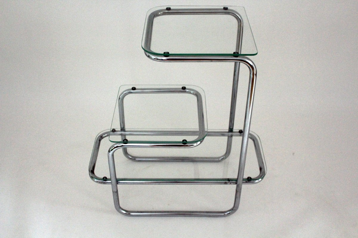 B136 Tubular Steel Shelving Unit By A.Guyot For Thonet, 1930s