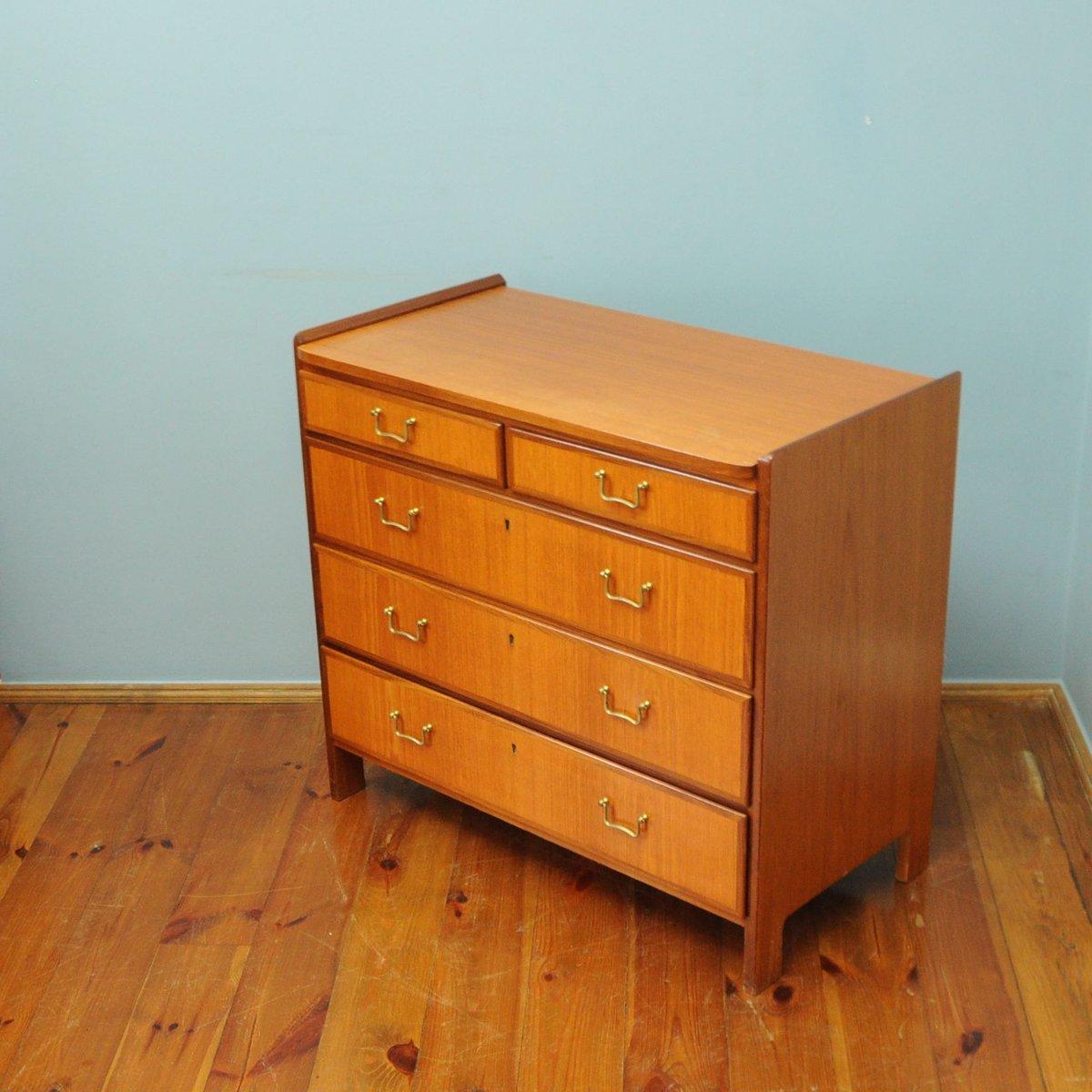 mid century teak kommode von ab tidaholms m belfabrik bei pamono kaufen. Black Bedroom Furniture Sets. Home Design Ideas
