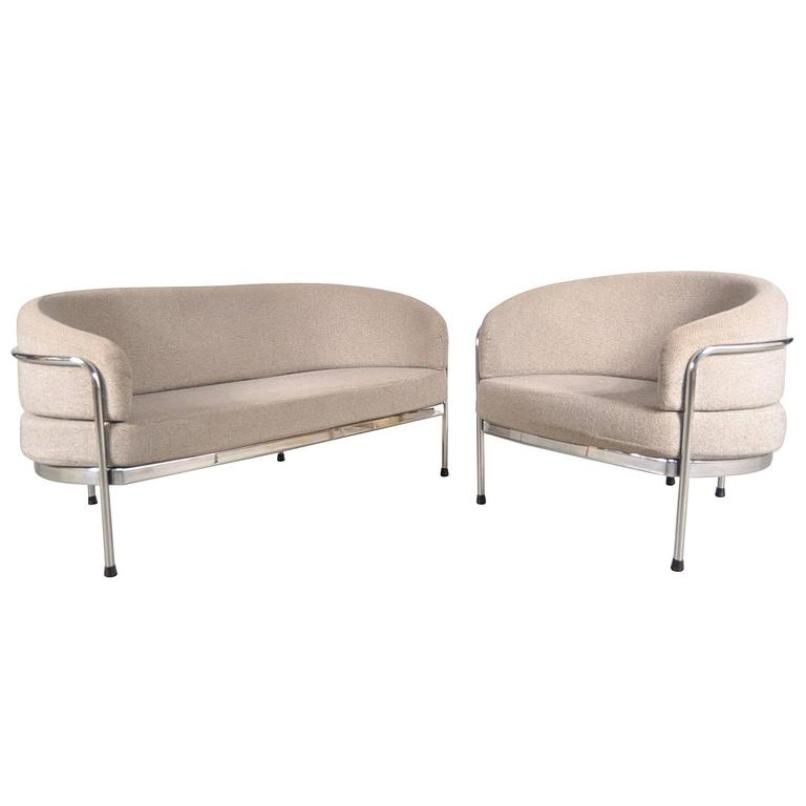 vintage two seater sofa and lounge chair set by hans ell for 39 t spectrum for sale at pamono. Black Bedroom Furniture Sets. Home Design Ideas