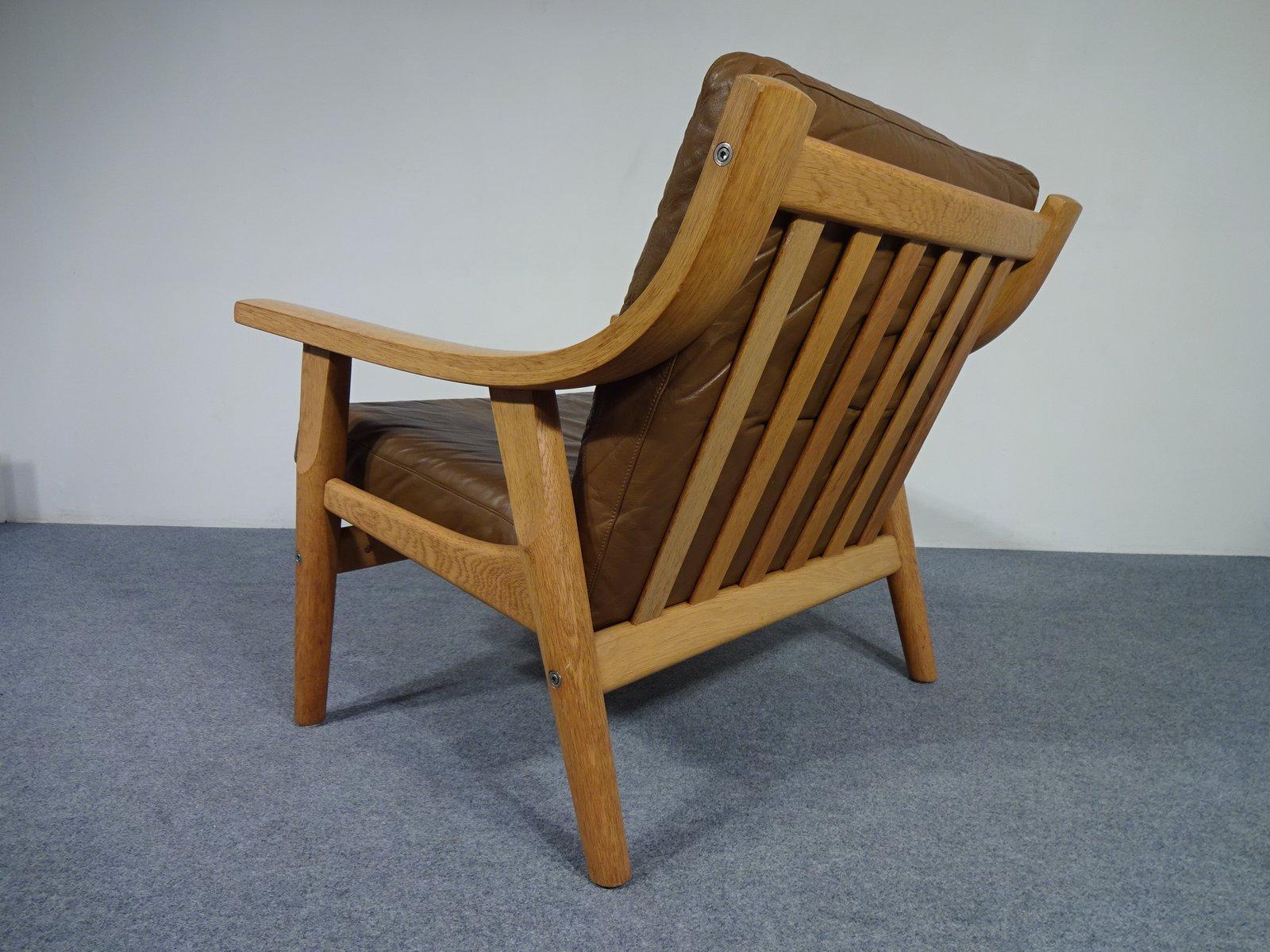 chaise ge 530 par hans j wegner pour getama 1960s en vente sur pamono. Black Bedroom Furniture Sets. Home Design Ideas