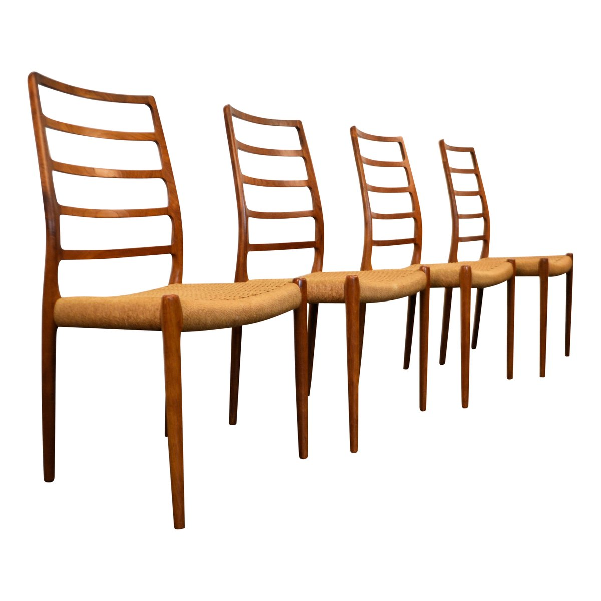 Vintage Model 82 Teak Dining Chairs By Niels O Moller For JL Mollers Set Of 4 Sale At Pamono