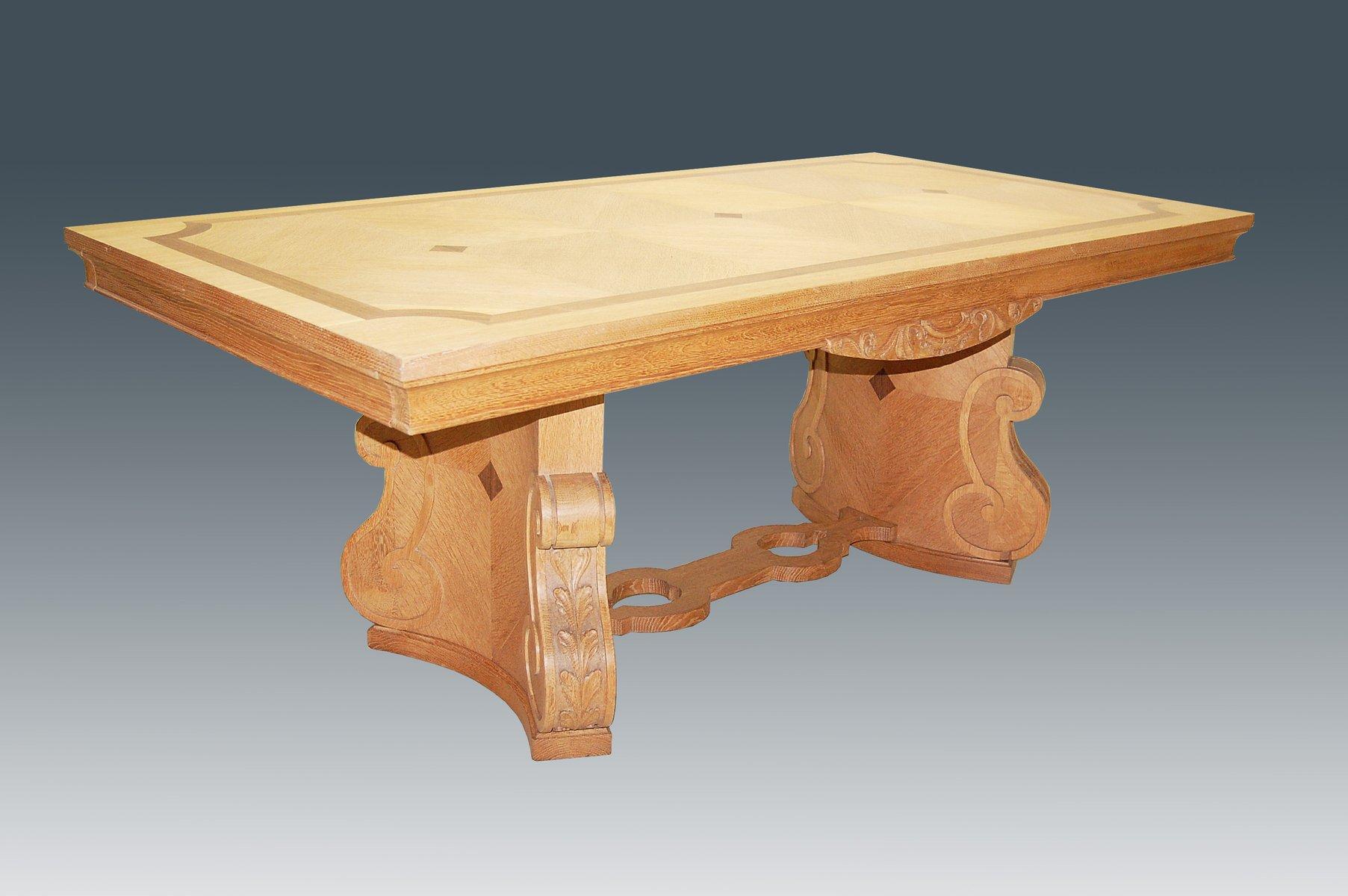 Mesa de comedor escultural grande con incrustaciones a os 40 en venta en pamono - Mesa de comedor grande ...