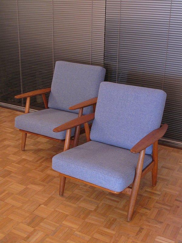 mid century ge240 cigar sessel von hans wegner f r getama. Black Bedroom Furniture Sets. Home Design Ideas