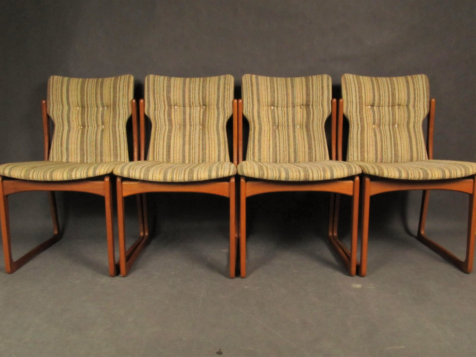 Mid Century Dining Room Chairs From Vamdrup Stolefabrik 1960s Set Of 4