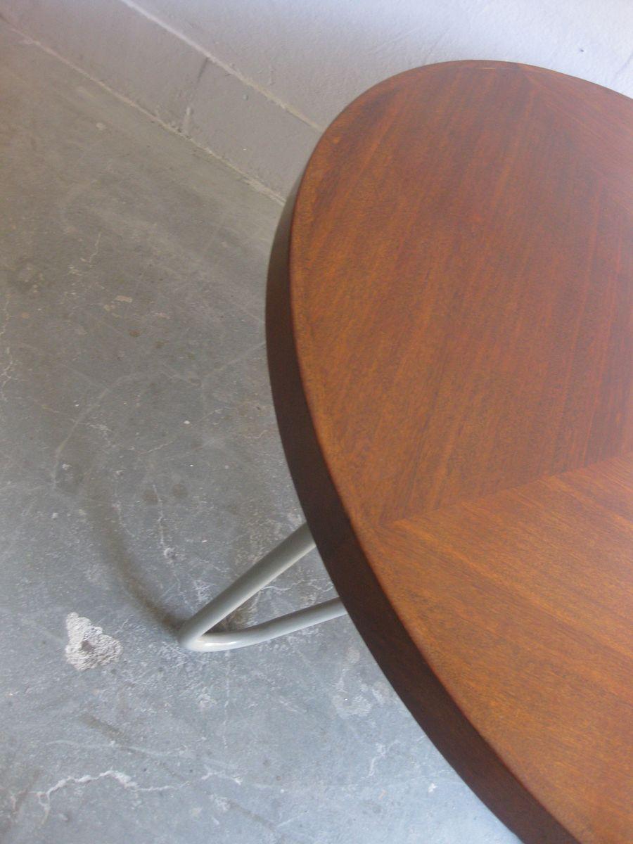 Plateau de table rond vintage en bois en vente sur pamono for Plateau rond en bois pour table
