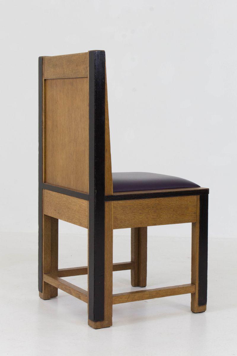 art deco haager schule eichenholz st hle von randoe 1926 8er set bei pamono kaufen. Black Bedroom Furniture Sets. Home Design Ideas